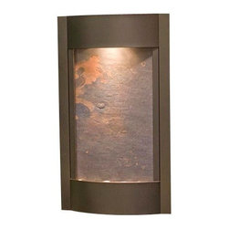 Adagio Water Features - Serene Waters Wall Fountain, Antique Bronze, Rajah Featherstone - Easy installation and lightweight