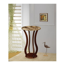 "Coaster - ""Coaster Plant Stand, Cherry"" - ""Cherry finish plant stand with faux marble top.Dimensions (W x L x H): 18.00"""" x 18.00"""" x 28.50""""Finish/Color: CherryAssembly Required: NoMade in Taiwan"""