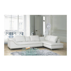Exclusive All Real Leather Sectional - Features: