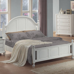 Wildon Home � - Briana Panel Bed - This stunning contemporary platform bed will add a touch of sophisticated style to your master bedroom. The high slightly curved headboard features two plush bi-cast leather panels for a luxurious look, while a Smooth Black frame with low profile footboard and chambered edges creates a sleek balance. Pair with the coordinating collection items for a harmonious style in your calming bedroom. Features: -Contemporary style.-Clean lines, chamfered trim, chambered drawer fronts, block feet.-Smooth tops with straight edges.-Low profile foot board.-Box spring required.-Constructed of wood and veneers.-Distressed: Yes.-Collection: Berkshire.Dimensions: -Overall Product Weight: 88 lbs.