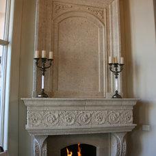 Mediterranean Fireplace Mantels by DeVinci Cast Stone