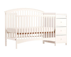 Stork Craft - Stork Craft Bradford 4 in 1 Fixed Side Convertible White Crib Changer - Stork Craft - Cribs - 04586351 - The Storkcraft Bradford Stages 4-in-1 Fixed Side Crib with Changer shows polished refined lines that add to the sophistication of this crib making it the perfect piece for your nursery! Designed for multiple stages of life; it converts from a full size stages crib to a toddler bed to a daybed to a full-size bed. Full size bed rails not included.The attached changer is designed with safety in mind with an extra deep surface for added security and stability while changing your baby. Set-up this beautiful Bradford Stages Crib with changer effortlessly with its easy to follow directions. It is constructed of stunning solid wood and wood products offered in a selection of non toxic durable finishes. All four sides are stationary and include an adjustable one piece mattress support base to add to the security and stability of this charming crib.Complete your nursery look by adding an assortment of complimentary accessories: a chest dresser or glider and ottoman by Stork Craft. Stork Craft has been keeping babys safe for over 60 years. They are fully JPMA certified; a unique certification program and certification seal that help to guide parents towards the best products for their children.