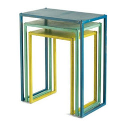 Metal Nesting Tables - Add a little bit of color with these nesting tables!