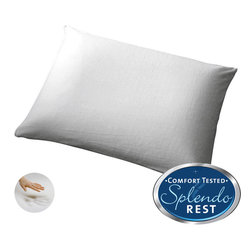 Splendorest - Splendorest IsoPerfect Memory Foam Traditional Bed Pillow - Splendorest IsoPerfect is made with 100-percent visco-elastic memory foam. The pillow is traditionally shaped and supremely plush and the zippered velour cover is removable for easy care.