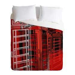 DENY Designs - Aimee St Hill Phone Box Duvet Cover - Turn your basic, boring down comforter into the super stylish focal point of your bedroom. Our Luxe Duvet is made from a heavy-weight luxurious woven polyester with a 50% cotton/50% polyester cream bottom. It also includes a hidden zipper with interior corner ties to secure your comforter. It's comfy, fade-resistant, and custom printed for each and every customer.