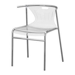 K Hagberg/M Hagberg - ELMER Chair - Chair, clear, chrome plated