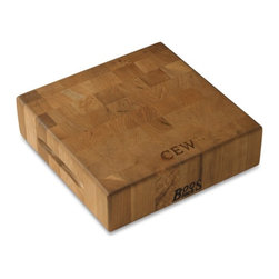 Boos Cherrywood End-Grain Cutting Block - Every cook needs a quality butcher block. Invest in one and it'll last you a lifetime. This 3-inch thick one, made in the USA from sustainably harvested solid cherrywood, makes a beautiful and enduring addition to the kitchen.