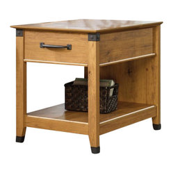 Sauder - Sauder Registry Row Smartcenter Side Table in Amber Pine - Sauder - End Tables - 413080 -