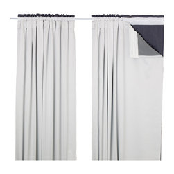 Glansnäva Curtain Liners, Set of 2 - Maybe I'm the only one, but I had no idea you could get curtain liners! They are the perfect solution if you really need blackout curtains but have already fallen in love with something more sheer. I love the concept, and the price is completely doable for a good night's sleep.