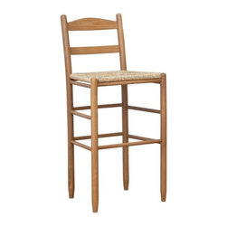 "Dixie 30-Inch Shaker Style Ladder Back Bar Stool - Add a classic touch to your kitchen or bar with the Dixie 30-Inch Shaker Style Ladder Back Counter Stool. This hand-crafted barstool is made in the traditional Shaker style and features a comfortable ladder back and hand-woven rush seat. The legs and frame are crafted of solid North American Ash hardwoods and are available in a variety of finish options.This barstool is hand-made using traditional wood working techniques that ensure its graceful durability. It's strong enough to be used in the kitchen, bar, or for commercial use. The seat measures 30 inches high and the overall dimensions are: 20W x 16.5D x 42H inches. Please note: This item is not intended for commercial use. Warranty applies to residential use only.About Dixie SeatingIn business since the early 1900s, Dixie Seating Company is a premier manufacturer of solid hardwood ladder back chairs, rockers, stools, and children's furniture. They offer classic, comfortable, colorful furniture with American-made craftsmanship, solid wood construction, and affordability. Serving both the residential and commercial markets, Dixie is the largest domestic manufacturer of round posted seating products.All of Dixie Seating's products are manufactured from select grade North American Ash hardwood. Their unique construction techniques use no glue, but rather a combination of precisely machined components, multiple pressure clamping, interlocking wood-to-wood joints, and a ""swelled joint"" construction. They use metal fasteners at each joinery to ensure long-lasting strength and years of enjoyment for you and your family. While their techniques are old fashioned and follow the guidelines of traditional, hand-built-quality wood working, Dixie Seating products are designed for today's lifestyles."