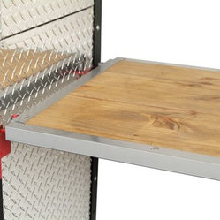 Garage Fabricators Removable Stained Hardwood Workbench - Garage Fabricators standard cabinets ...