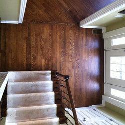 "4"" White oak in Diagonal pattern - Totta Hardwood Flooring"