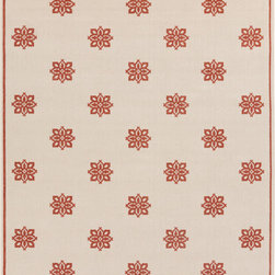 """Surya - Surya Alfresco ALF-9605 (Orange, Beige) 7'3"""" Square Rug - The beautiful rugs in the Alfresco Collection can be used on the porch, deck, and patio or hose them down and use them in your kitchen, sunroom, or bathroom! This versatile collection offers rugs that are stain, humidity, and UV ray resistant. Complement your home dEcor with the beauty of Alfresco rugs that flow smoothly with your lifestyle. -100% Polypropylene -Outdoor -Made in Egypt"""
