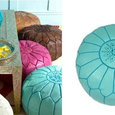 eclectic ottomans and cubes by Belle & Elle