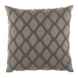 """Canaan - 24"""" x 24"""" Intertwine Diamond Pattern Throw Pillow - 24"""" x 24"""" Intertwine diamond pattern throw pillow with a feather/down insert and zippered removable cover. These pillows feature a zippered removable 24"""" x 24"""" cover with a feather/down insert. Measures 24"""" x 24"""". These are custom made in the U.S.A and take 4-6 weeks lead time for production."""