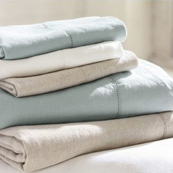 Linen Solid Sheet Set, Cal. King, White