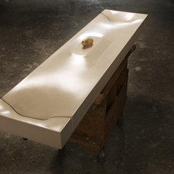 Zen Dual Vanity Concrete Sink by Gore Design Co. - ©2014 Gore Design Co., LLC