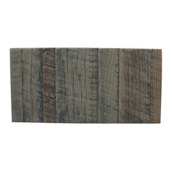 Reclamation Company - Wood Sample, Oak, Gray Wash - Sample of reclaimed rough sawn oak with a gray wash finish.
