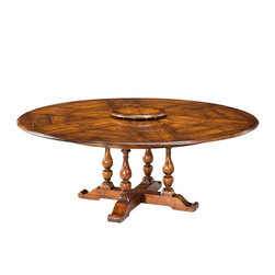 EuroLux Home - Dining Table Antique Walnut Round - Product Details