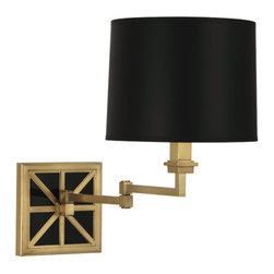 Robert Abbey - Robert Abbey Mary McDonald Directoire Swing Arm Sconce 2555B - Antique Brass Finish
