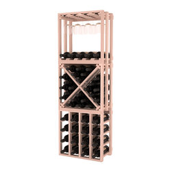 Wine Racks America - Lattice Stacking Cube - 3 Piece Set in Premium Redwood, White Wash Stain - Designed to stack one on top of the other for space-saving wine storage our stacking cubes are ideal for an expanding collection. This 3-piece set comes with (1) X-Cube, (1) Stemware Cube and (1) 4 Column Cubicle. Use as a stand alone rack in your kitchen or living space or pair with more stacking cubes as your wine collection grows.