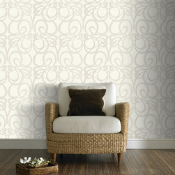 Graham & Brown - Jazz Wallpaper - Jumbled shapes and subtle silver embellishments create this opulent Cubist styled design