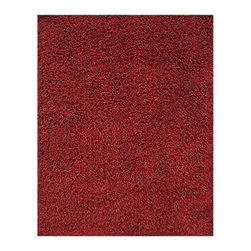 Anji Silky Shag Crimson 5'x8' - Take a few steps on our luxurious bamboo rug, and your feet will sing with joy. Not only are the fibers of this 80% bamboo - 20% cotton rug softer and silkier than wool or synthetic fibers, they are also hypo-allergenic and resist shedding. In addition, only non-toxic Azo-free dyes are used to produce the brilliant colors.Our bamboo rugs are crafted from sustainably-harvested bamboo that grows on a mountain range that is not inhabited by the Giant Panda bear. In addition, the Giant Panda does not eat the species of bamboo used to craft these beautiful rugs, so you can rest assured that these rugs are not only earth-friendly, but also panda-friendly. Rug pad recommended.Available colors: Ivory, Beige, Crimson and Coffee Bean.Available sizes: 3'x 5', 4'x 6', 5'x 8', 8'x 10' and 9'x 12'.