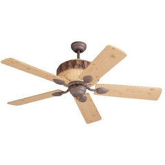 Great Lodge 52 Inch Weather Iron Ceiling Fan Monte Carlo Stem Mounted Fan Ceilin