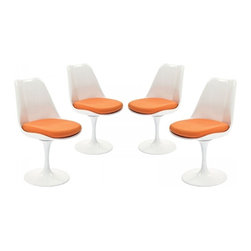 Modway Imports - Modway EEI-1342-ORA Lippa Dining Side Chair Set of 4 In Orange - Modway EEI-1342-ORA Lippa Dining Side Chair Set of 4 In Orange