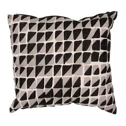Jaipur - Luli Sanchezs Black 14 x 20-Inch Decorative Pillow - - En Casa is the design collection of Cuban born Queens NY raised painter and surface designer Luli Sanchez. This collection is based off of her painterly works of art that capture an organic and moody yet optimistic spirit. Her geometric paintings were truly inspiring for this pillow collection      - Care Instructions: Remove the throw pillow's cover if it is removable. Wash the cover separately from the pillow. Pre-treat badly soiled or stained areas on the pillow cover with a color-safe prewash spray. Rub the spray into the stain with a damp sponge. Wash the pillow cover or the whole pillow on a gentle-wash cycle in warm water with a very mild detergent. Detergent for delicate fabrics or baby clothes is usually suitable. Remove the pillow or pillow cover as soon as the washing machine has ended the cycle and has shut off. Hang the pillow or cover up to dry in a well-ventilated area. If the care label specifies that the item is dryer-safe place the pillow or pillow cover in the dryer and tumble dry on low heat. Fluff the pillow once it is dry in order to maintain its form. Don't use the pillow until it is completely dry. Damp pillows will attract dirt more easily. Jaipur - PLC101019