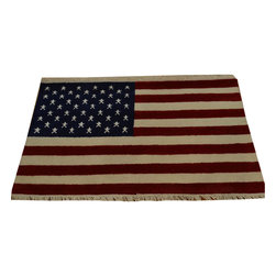 1800-Get-A-Rug - Oriental Rug 100% Wool Hand Knotted American Flag Design Rug Sh16796 - Our Modern & Contemporary hand knotted rug collection contains some of the latest designs in the industry. The range includes geometric, transitional, abstract, and modern designs; from the Tibetans to the Gabbeh. We offer an entire line of contemporary designs, whether you're searching for sophisticated and muted to the vibrant and bold.
