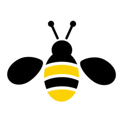 """My Wonderful Walls - Bee Stencil for Painting - - Measures 4""""w x 3""""h"""