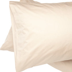 Alluna - Cappuccino 500-Thread Count Best Fit Pillow Case - Set of Two - Drift to Dreamland with this set that boasts an extra-soft 500-thread count and a 6-inch capture top opening that keeps your pillow in place.   Includes two pillow cases 100% cotton 500-thread count Machine wash Imported