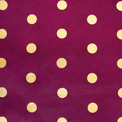 Lama Li Handmade Paper, Gold Polka Dots - When it comes to Christmas decor, there's a camp for happy and exuberant (think big lights in every color of the rainbow and handmade ornaments) and a camp for classic and elegant (white lights, gold and green ornaments, etc). Happily, this spotted wrapping paper will work for both.