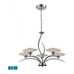 ELK Lighting - Five Light Chrome Up Chandelier - Five Light Chrome Up Chandelier