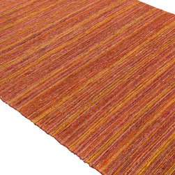 "Jaipur Rugs - Naturals Stripe Pattern Hemp Red/Orange Area Rug (2 x 3) - Feel the design rhythm with Hula, a spirited collection of hand-woven of natural hemp rugs. These highly textured flat-weave pieces elevate the concept of ""green"" floor covering to a new level of sophistication, with beautiful solids and bold florals. Hula pairs functionality with a look that's chic, colorful and comfortable."