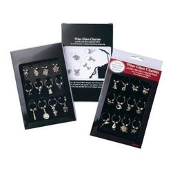 Franmara - Wine Glass Stem Charms Gourmet Collection, Black Box Version - This gorgeous Wine Glass Stem Charms Gourmet Collection, Black Box Version has the finest details and highest quality you will find anywhere! Wine Glass Stem Charms Gourmet Collection, Black Box Version is truly remarkable.