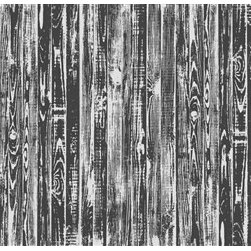Walls Republic - Black Stained Mural Wallpaper M8981 - Black Stained is a dark stained wood plank digital mural. This tone on tone look will be great for creating an unconventional wooden aesthetic in your bedroom or home office. Due to this item being a custom order, it takes longer to ship than our regular products.