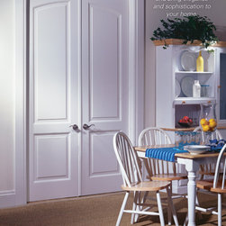 "Supa Doors - 2 Panel Victorian - Choose a blended ""common"" arch over two doors for a beautiful featured area.  Works well for double closet doors as well."