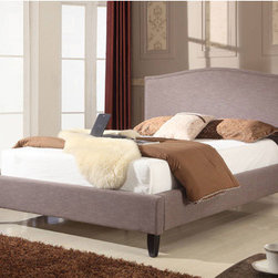 "Modus - Elise Panel Bed - Our Upholstered Bedroom Collection offers a range of luxurious upholstered bed frames and accessories designed to match a wide range of Modus casegoods or other contemporary decor. From the sleek, minimalist Mambo beds to our signature lift beds and all-new linen line, we cover an ever-expanding range of silhouettes, features and textures for the contemporary home. Features: -Elegant camelback headboard shape.-Channeled border frames center headboard panel.-Designed for use with a box spring (foundation) and mattress--low profile 5 inch foundation recommended.-Fabric content: polyester, cotton, rayon.-Cleaning instructions: clean with water-free cleaning solvent only. Do not use water..-Upholstered with soft linen-like fabric in a fog-gray color.-Flared, solid wood legs are finished in a dark espresso tone.-Powder Coated Finish: No.-Gloss Finish: No.-Finish: Fog.-Non Toxic: No.-Scratch Resistant: No.-Mattress Included: No.-Headboard Storage: No.-Footboard Storage: No.-Underbed Storage: No.-Slats Required: Yes -Slats Included: Yes..-Center Support Legs: Yes.-Adjustable Headboard Height: No.-Adjustable Footboard Height: No.-Wingback: No.-Trundle Bed Included: No.-Attached Nightstand: No.-Cable Management: No.-Built in Outlets: No.-Lighted Headboard: No.-Distressed: No.-Bed Rails Included: Yes.-Collection: Upholstered.-Eco-Friendly: No.-Recycled Content: No.-Canopy Frame: No.-Jewelry Compartment: No.-Swatch Available: No.Specifications: -FSC Certified: No.-EPP Compliant: No.-CPSIA or CPSC Compliant: No.-CARB Compliant: No.-JPMA Certified: No.-ASTM Certified: No.-ISTA 3A Certified: No.-PEFC Certified: No.-General Conformity Certificate: No.-Green Guard Certified: No.Dimensions: -Overall Height - Top to Bottom (Size: California King): 52"".-Overall Height - Top to Bottom (Size: Full): 52"".-Overall Height - Top to Bottom (Size: King): 52"".-Overall Height - Top to Bottom (Size: Queen): 52"".-Overall Width - Side to Side (Size: California King): 75"".-Overall Width - Side to Side (Size: Full): 57"".-Overall Width - Side to Side (Size: King): 79"".-Overall Width - Side to Side (Size: Queen): 57"".-Overall Depth - Front to Back (Size: California King): 84"".-Overall Depth - Front to Back (Size: Full): 84"".-Overall Depth - Front to Back (Size: King): 89"".-Overall Depth - Front to Back (Size: Queen): 84"".-Overall Product Weight (Size: California King): 135 lbs.-Overall Product Weight (Size: Full): 107 lbs.-Overall Product Weight (Size: King): 141 lbs.-Overall Product Weight (Size: Queen): 119 lbs.Assembly: -Assembly Required: Yes.-Additional Parts Required: No.Warranty: -Product Warranty: 1 Year."