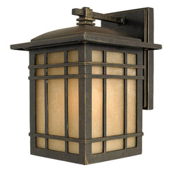 Quoizel Lighting - Quoizel Lighting HC8407IB 1 Light Medium Outdoor Wall SconceHillcrest Collection - For over seventy years, Quoizel lighting has been dedicated to the design and production of its diversified line of fine lighting products and home accessories.