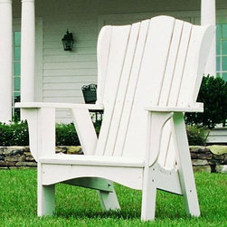 Grand Hotel Adirondack Chair - I love the elegant design of this Adirondack style chair. The form reminds me of my Dad's old wing back chair - a classic.