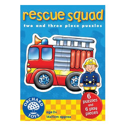 """The Original Toy Company - The Original Toy Company Kids Children Play Rescue Squad - Choose one of the cheerful characters and make up the matching emergency vehicle. Ages 2 years plus. Puzzle size- 5.5""""x 4.25"""" 2-3 piece puzzles. Made in England."""