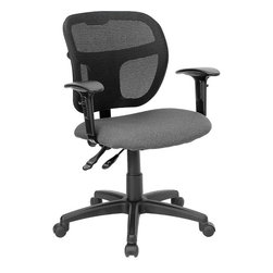 Flash Furniture - Flash Furniture Mid Back Mesh Task Chair with Fabric Seat in Gray - Flash Furniture - Office Chairs - WLA7671SYGGYAGG - Upgrade your standard mesh office chair with this multi-functional version. When you need more adjusting capabilities than your standard office mesh chair this will exceed your expectations. The breathable mesh back keeps you cool when sitting for long periods of time. The firm comfortably padded seat will keep you at ease during work or while leisurely browsing. Whatever your need this chair will perform for you! [WL-A7671SYG-GY-A-GG]
