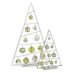 Ornament Trees - This is how you do holiday decor if you are a minimalist.