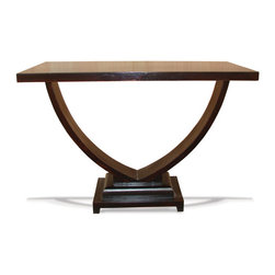 Koenig Collection - Old World Traditional Accent Table Montrose, Mahogany Stain - Old World Traditional Accent Table Montrose, Mahogany Stain