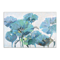 Uttermost - Calming Poppies Floral Art - A vibrant burst of spring color is shown here in this hand painted artwork on canvas. The canvas is stretched over a wood frame. Due to the handcrafted nature of this artwork, each piece may have subtle differences.