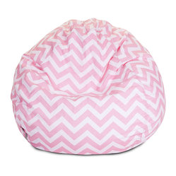 Indoor Baby Pink Chevron Small Bean Bag