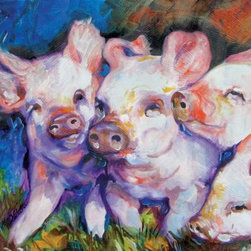WL - Barnyard Farm Theme Wall Art Painting with Three Pink Piglets Design - This gorgeous Barnyard Farm Theme Wall Art Painting with Three Pink Piglets Design has the finest details and highest quality you will find anywhere! Barnyard Farm Theme Wall Art Painting with Three Pink Piglets Design is truly remarkable.