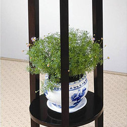 None - Venetian Wood Plant Stand Table - Complete your home or office decor with this beautiful venetian plant stand tablePlant stand boasts a rich cappuccino finish that will enhance any decorAccent table will surely brighten up any room